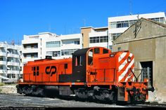 1510 CP Portugal Alco (CP 1500 class) at Faro, Portugal by Maarten van der Velden Location Map, Photo Location, Old Trains, Small Buildings, Bahn, Locomotive, Diesel, American, World