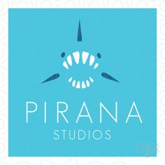 Very atractive logo. Teeth group together nicely and the white-blue-dark blue color scheme works great Simple Colors, Simple Shapes, Pub Logo, Shark Logo, Design Logos, Make Your Own Logo, Great Logos, Studio Logo, Logo Background