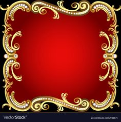 Decorative frame with pattern gold pearl Islamic Wallpaper, Textured Wallpaper, Colorful Wallpaper, Decent Wallpapers, Background Design Vector, Royal Design, Borders And Frames, Gold Pearl, Free Illustrations