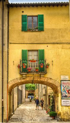 Arch in Citta di Castello, Italy by Anguskirk, via , Perugia province , Umbria region Italy