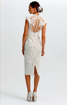 Reception dress? (statement backs 2012 wedding dress trends marchesa lace LWD)