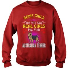 #Australian Terrier Real Girls Play With #Australian Terrier Dog, Order HERE ==> https://www.sunfrog.com/Pets/121892184-636058699.html?58094, Please tag & share with your friends who would love it, #birthdaygifts #xmasgifts #jeepsafari