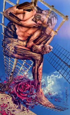 Don Quijote, the broken rose / visual metaphors