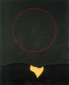 "yama-bato: ""Gustavo Torner (Spanish, b. 1925), Círculo rojo sobre verde, 1963 """