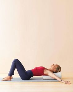 Immunity Boosting Yoga -- Simple chest opener over a bolster -- opens the armpits and chest, encouraging the flow of lymph.