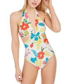 One Piece Swimsuit White, Floral Swimsuit, Women's One Piece Swimsuits, One Piece Suit, Women Swimsuits, Swimwear Brands, Swimsuit Cover Ups, One Piece For Women, Bathing Suits