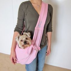 Alfie Pet by Petoga Couture - Chico Reversible Pet Sling Carrier - Color: Pink - http://www.thepuppy.org/alfie-pet-by-petoga-couture-chico-reversible-pet-sling-carrier-color-pink/