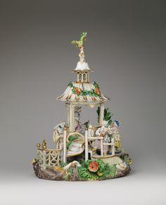 Chinese Pavilion Factory: Frankenthal Porcelain Manufactory (German) Modeler: Karl Gottlieb von Lück (active 1760–75)   ca. 1770   Hard-paste porcelain