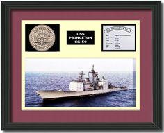 USS PRINCETON CG 59 - Framed Navy Ship Display