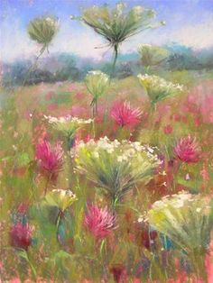 """The Secret to Painting a Wildflower"" - Original Fine Art for Sale - © Karen Margulis"