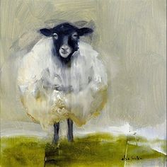 Schäfisch von Elsa Sroka Oil 8 x 8 Yasmin Fashions Sheep Paintings, Animal Paintings, Art Maori, Painting & Drawing, Watercolor Paintings, Painting Clouds, Painting Trees, Watercolors, Sheep Art