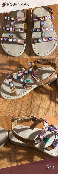 Jewel sandals Jewel sandals size 8 (3 jewels missing from the sandals) Shoes Sandals & Flip Flops