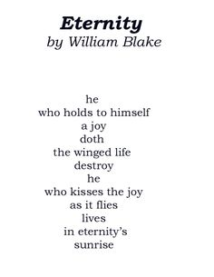 Eternity by William Blake