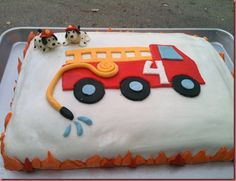 The Cake Lady: Fire truck/Dog cake