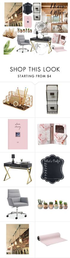 """home office"" by kara-lee-x on Polyvore featuring interior, interiors, interior design, home, home decor, interior decorating, Design Ideas, Ted Baker, EASEL and No Ka'Oi"