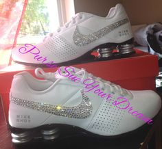Custom Nike Shox Designed Shoes Swarovski by PurseSueYourDream