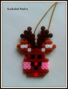 Reno Rudolf, en hama beads midi. Te hago el tuyo. Follow me in fb.
