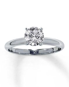 Kay Jewelers engagement ring in white gold with round cut I Style: 150866806 I https://www.theknot.com/fashion/diamond-solitaire-ring-1-ct-round-14k-white-gold-150866806-kay-jewelers-engagement-ring?utm_source=pinterest.com&utm_medium=social&utm_content=june2016&utm_campaign=beauty-fashion&utm_simplereach=?sr_share=pinterest