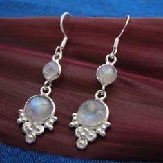 Sterling Silver Bezel-Set Earrings