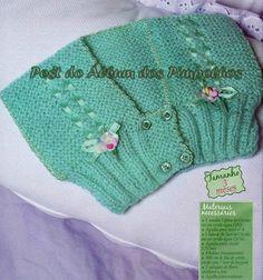 Receita de Tricô: Colete para Bebê em trico
