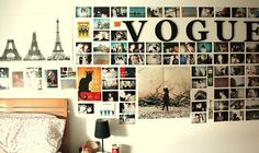 Dorm Room Decor: Ideas for Your Bare Walls. Decorate your dorm room with murals, posters & cool bookshelf and picture ideas this school year. My New Room, My Room, Dorm Room Styles, Photo Souvenir, Cute Bedroom Ideas, Trendy Bedroom, Awesome Bedrooms, Dorm Life, Inspiration Wall
