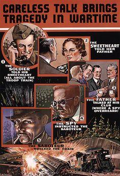 "Canadian WW2 poster admonishing against ""careless talk"""