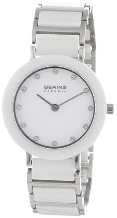 women watches |  Best white watches for women Bering Time 11429-754 Ladies Ceramic White Silver Watch