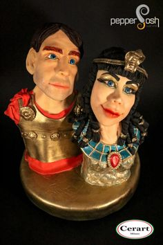 Cleopatra & Marc Anthony @Egypt Land of Mystery - cake by Pepper Posh - Carla Rodrigues