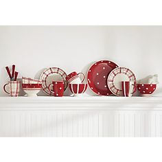 plaid and polka dot dinnerware | Fun-Tastic Dining Collection from HomeVisions