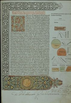 Erhard Ratdolt    Euclid Elements of Geometry Printed by Erhard Ratdolt in Venice: 1482
