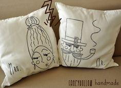 #cuscini da #divano disegnati a mano #ikeahack #Gurli