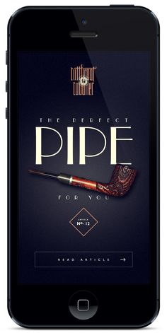 Perfect Pipe Mobile Interface by Brijan
