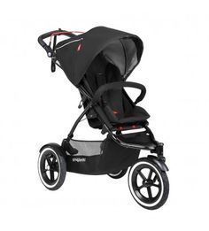 Featuring an auto-stop braking system that's built into the handlebar, this Phil & Teds Sport inline jogger stroller puts your mind at ease while jogging with your little one. Jogging Stroller, Pram Stroller, Double Strollers, Baby Strollers, Phil And Teds, Single Stroller, Cherry Baby, Nursery Twins, Baby Jogger