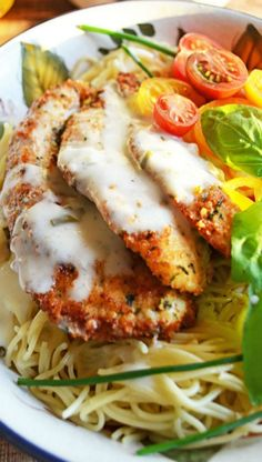 Parmesan crusted chicken with herb butter sauce....sounds amazing!