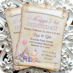 8cd9b618144f604439df26909a2c44ef invitation birthday baby shower invitations classic winnie the pooh invitations set of 10 classic pooh,Vintage Winnie The Pooh Invitations