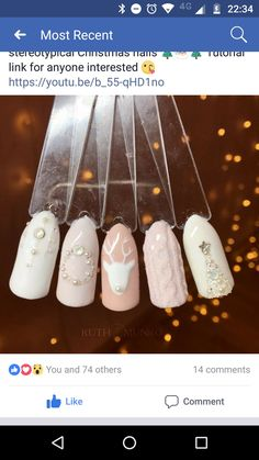 Christmas nails Christmas sweater nails Pink Christmas nails Pink winter nails - The most beautiful nail designs Xmas Nails, Holiday Nails, Christmas Nails, Fun Nails, Pink Christmas, Subtle Nail Art, Trendy Nail Art, Milky Nails, Pink Nail Designs
