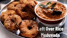 మిగిలిన అన్నం తో కరకరలాడే గారెలు టమాటా చట్నీ #Leftoverrice #Meduvada #A... Indian Breakfast, Breakfast Items, Tomato Chutney, Bagel, Bread, Food, Eten, Bakeries, Meals
