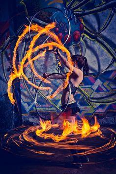 Fire hoops