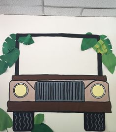 Safari Unit- Make a jeep and have students decorate and cut out circles to make their faces to put up in the jeep.
