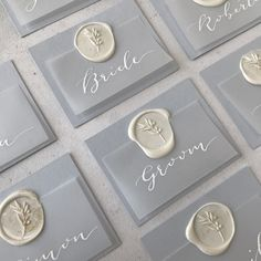 Provence inspired wedding anniversary place setting tags with white calligraphy names on . Provence inspired wedding anniversary place setting tags with white calligraphy names on . Calligraphy Name, Calligraphy Wedding Invitations, Event Invitations, Invitations Online, Blue Wedding Invitations, Invitation Cards, Invites, Wedding Places, Wax Seals