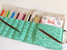 journal & pencil case. great project for beginner sewers!