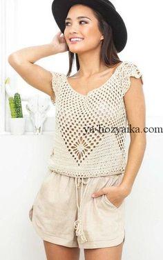 crops tejidos a crochet
