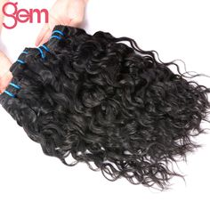 ==> [Free Shipping] Buy Best GEM BEAUTY Hair Malaysian Water Wave 1 Piece 100% Virgin Human Hair Weave Bundles Double Weft Hair Extensions 1B Can Be Dyed Online with LOWEST Price | 32819819067