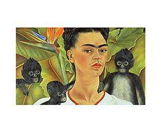 Impresión sobre lienzo Frida Kahlo - 55x80 cm