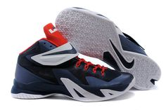 promo code 6f0cb 91a5d LeBron Soldier 8 Navy Blue Sport Red White USA