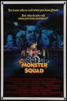 1 of 1 : 4z612 MONSTER SQUAD 1sh 1987 art of young heroes and classic villains by Craig!