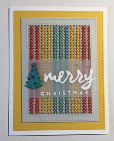 Dabbling in cross stitch for Christmas cards using Paper Smooches die - inspired by Jennifer McGuire