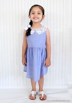 Father's Day Upcycle: Daddy's Shirt to Daughter's Dress | Candice Ayala