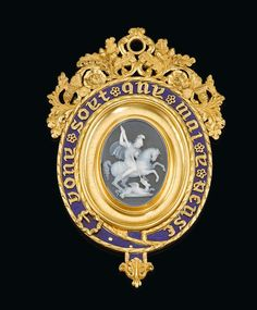 Great Britain, The Most Noble Order of the Garter the superb Lesser George sash badge, Cambridge No. presented by King William IV to his nephew Prince George of Cambridge on the occasion of the young Prince's installation as a Knight of the Garter in King William Iv, Saint George And The Dragon, Gold Sovereign, Order Of The Garter, Royal Art, The Royal Collection, 22 Carat Gold, Cement Crafts, Dragon Design