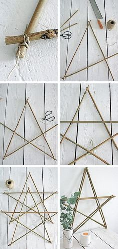 DIY: Star made out of twigs #christmas